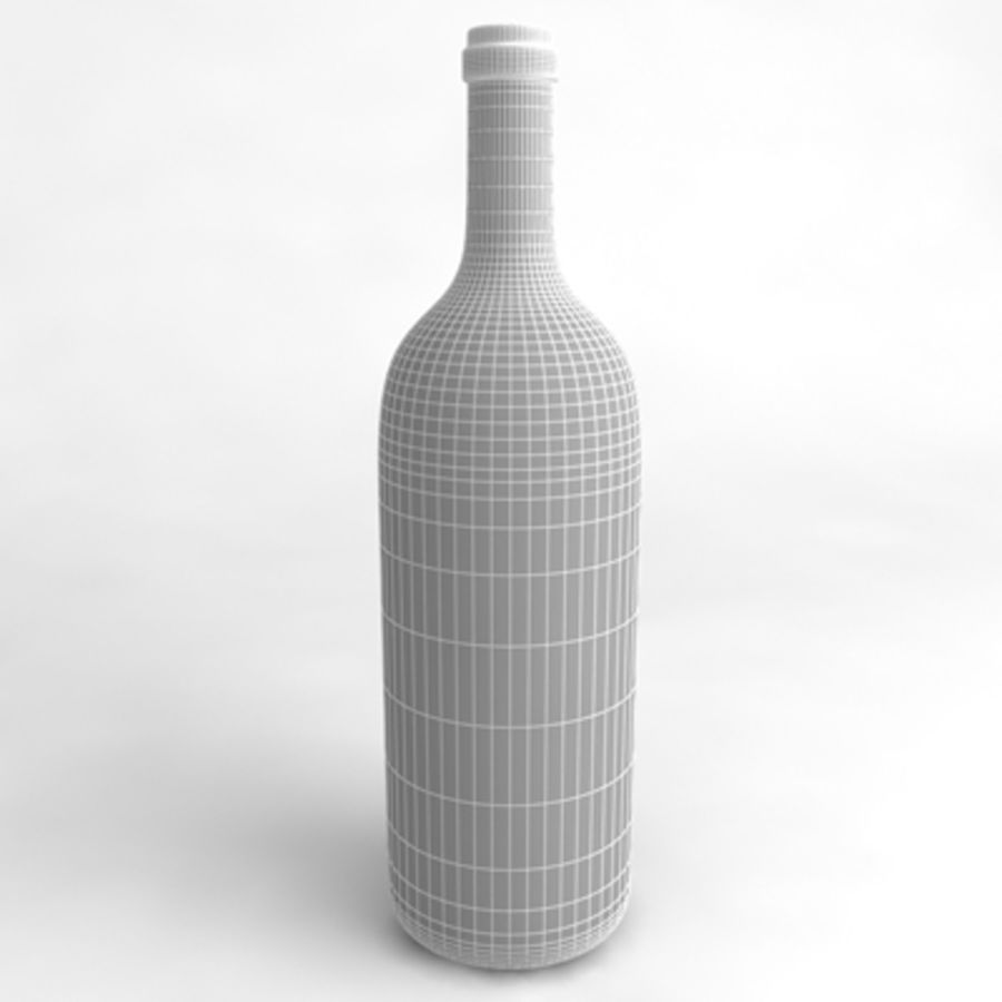 Wine Bottle_03 royalty-free 3d model - Preview no. 4