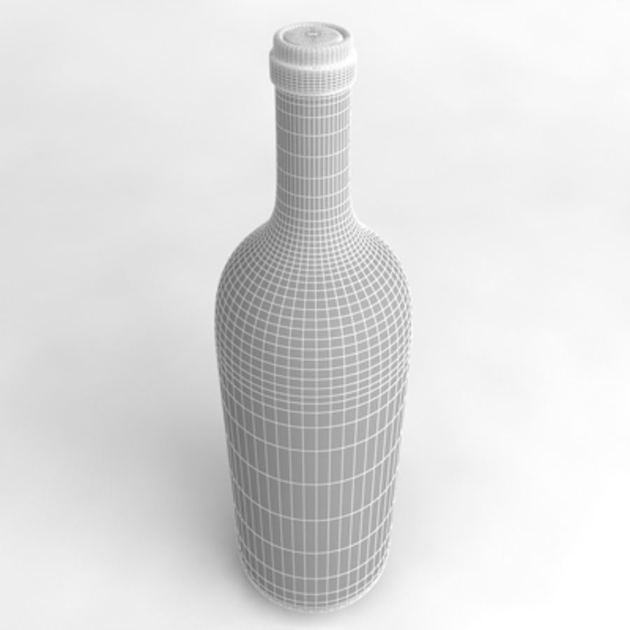 Wine Bottle_03 royalty-free 3d model - Preview no. 5