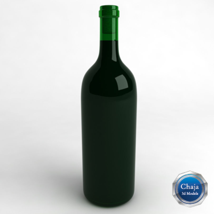 Wine Bottle_03 royalty-free 3d model - Preview no. 1