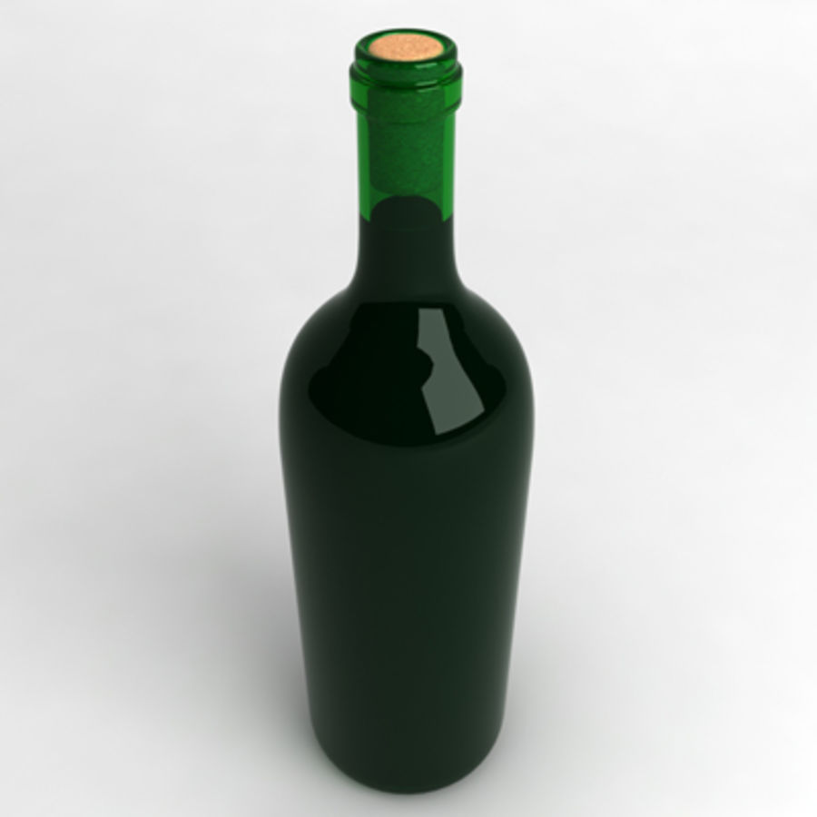Wine Bottle_03 royalty-free 3d model - Preview no. 2