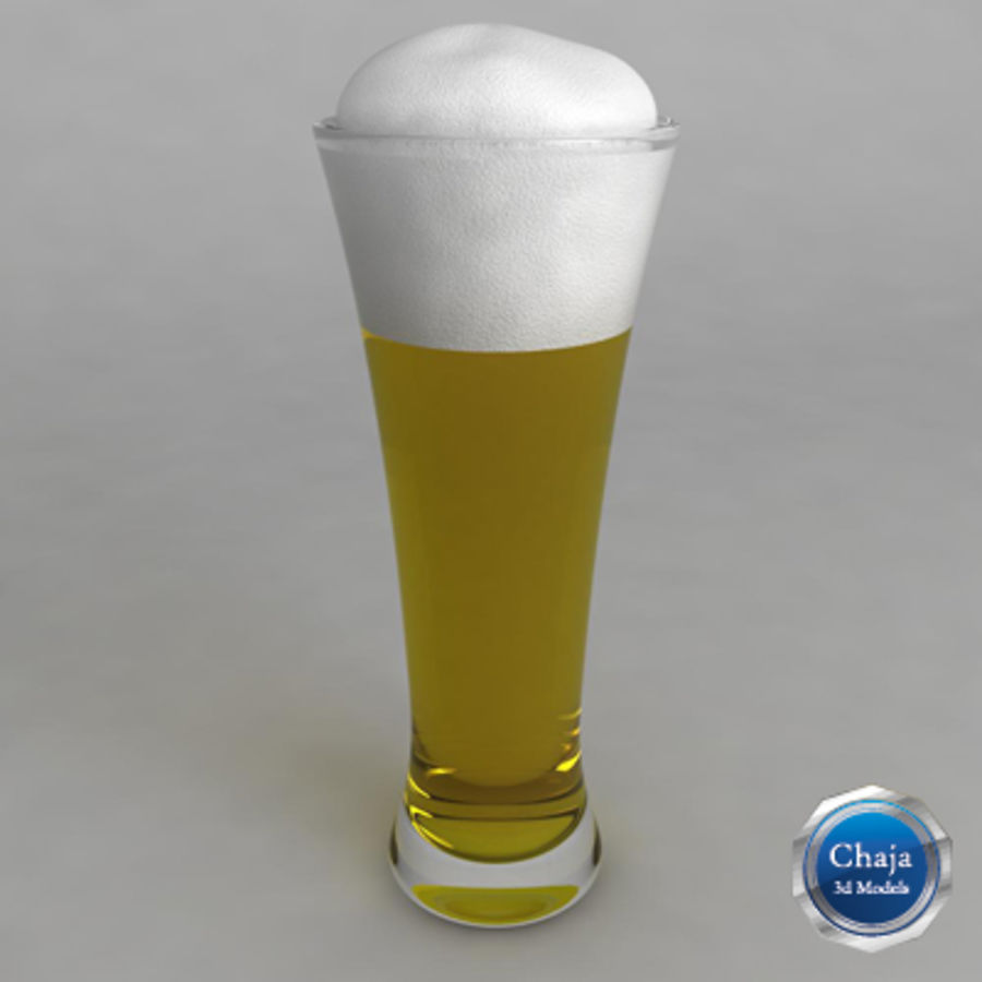 Beer Glass_07 royalty-free 3d model - Preview no. 1