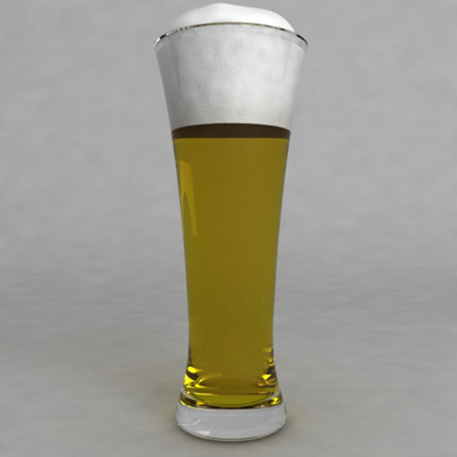 Beer Glass_07 royalty-free 3d model - Preview no. 2
