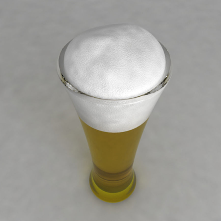 Beer Glass_07 royalty-free 3d model - Preview no. 3