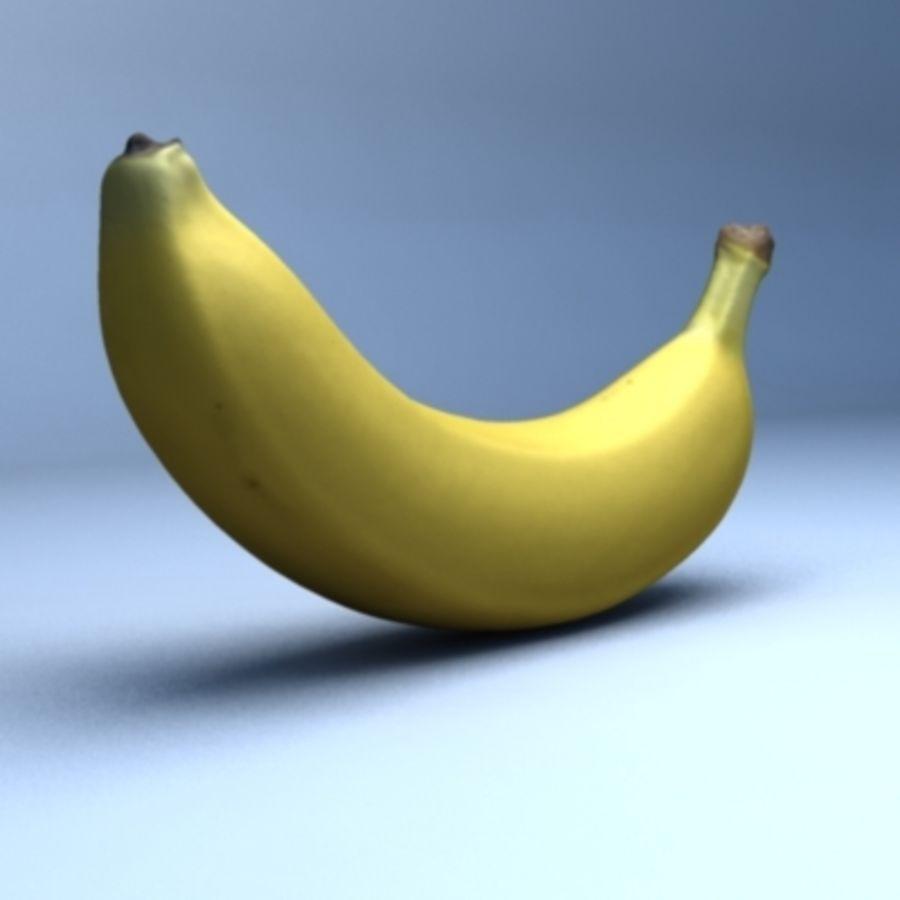 Banana (High Res) royalty-free 3d model - Preview no. 3