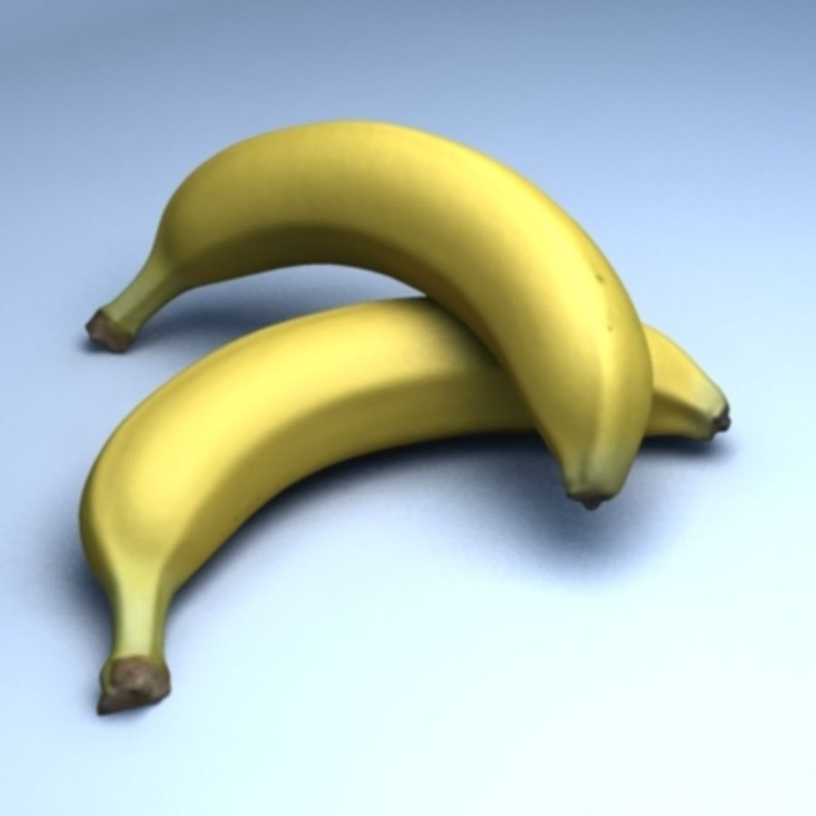 Banana (High Res) royalty-free 3d model - Preview no. 5