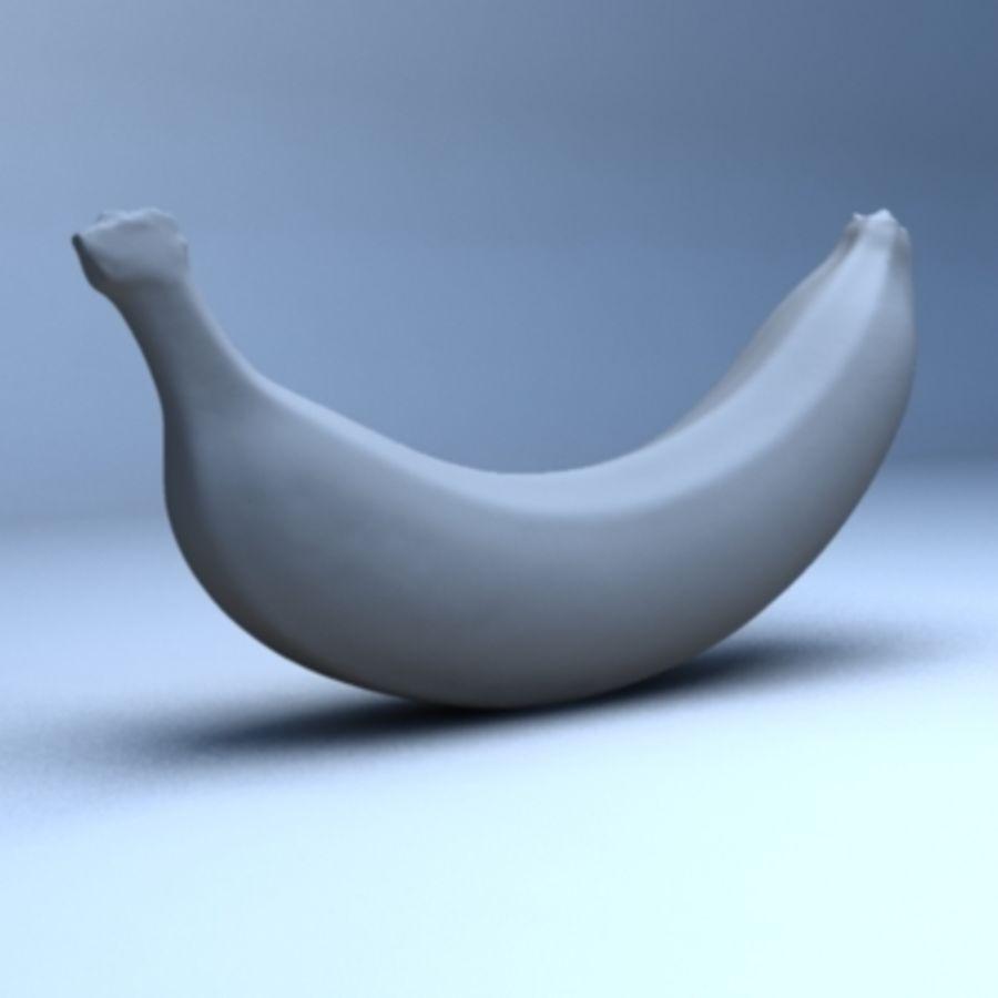 Banana (High Res) royalty-free 3d model - Preview no. 2