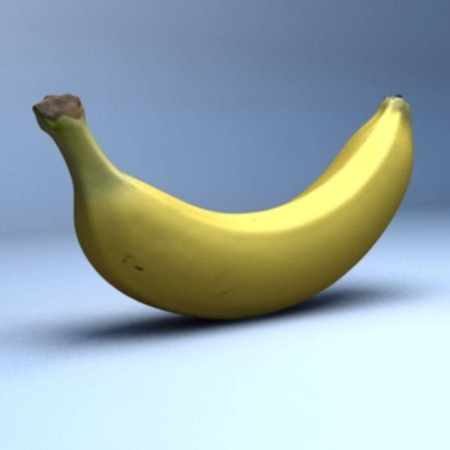 Banana (High Res) royalty-free 3d model - Preview no. 1