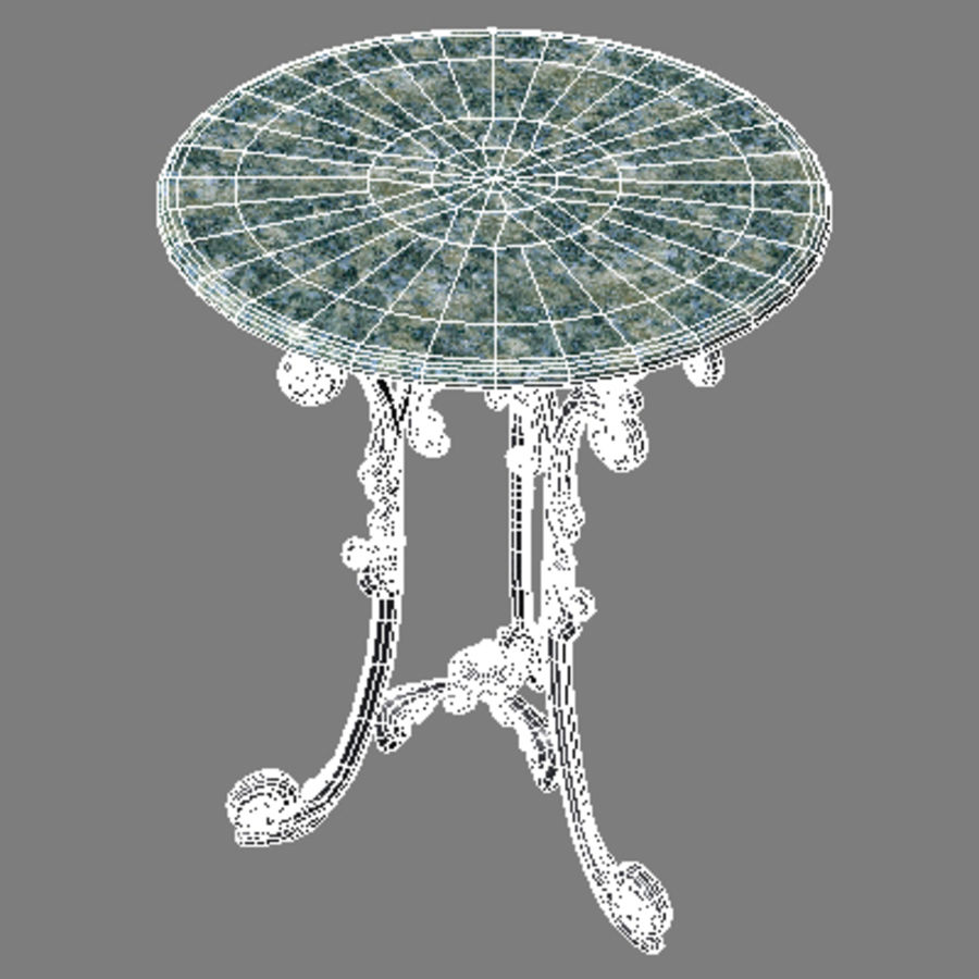 Marble table royalty-free 3d model - Preview no. 6