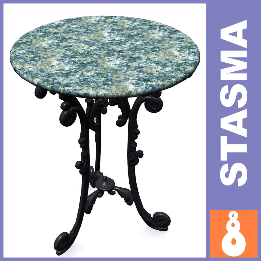 Marble table royalty-free 3d model - Preview no. 1