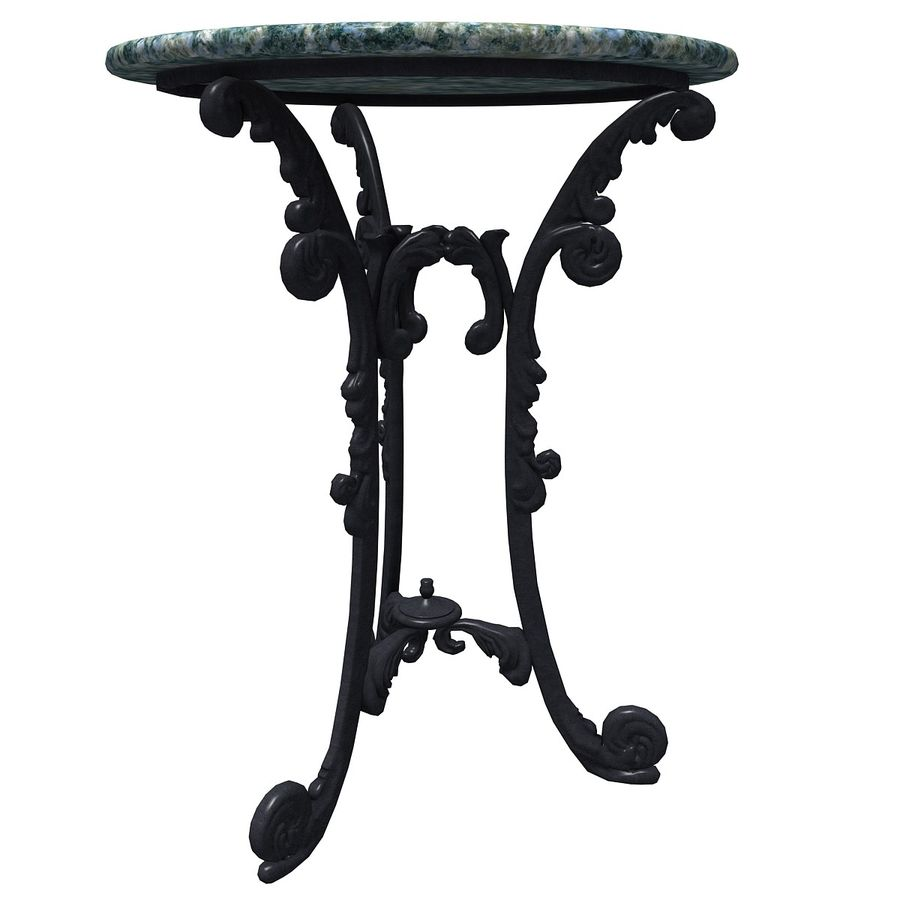 Marble table royalty-free 3d model - Preview no. 2