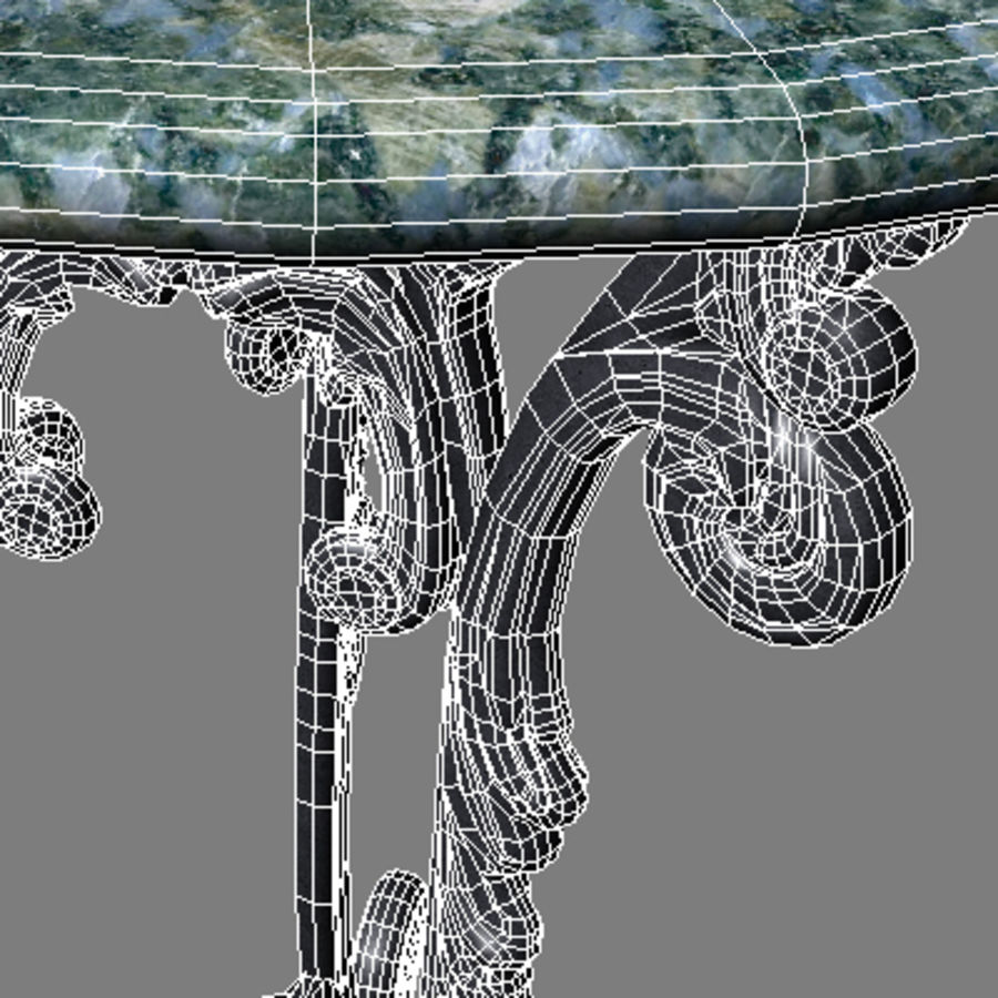 Marble table royalty-free 3d model - Preview no. 7