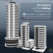 Edifícios 3D PreRender Low Polys 3d model
