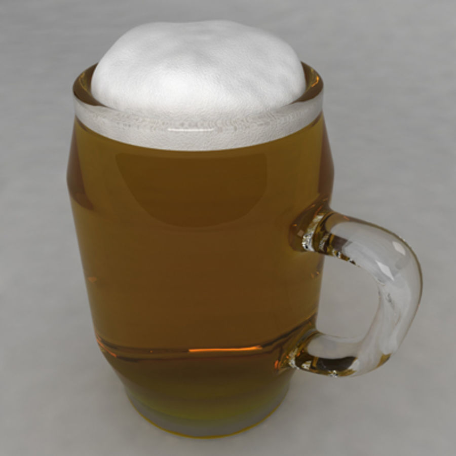 Beer Glass_10 royalty-free 3d model - Preview no. 2