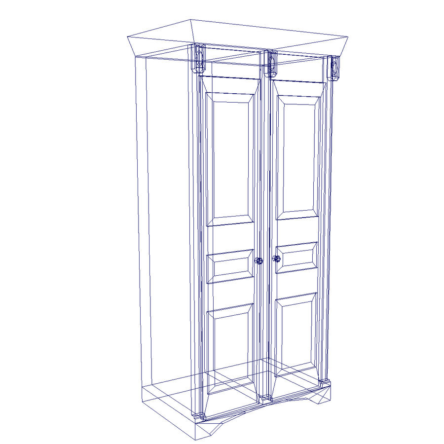 Cabinet royalty-free 3d model - Preview no. 4