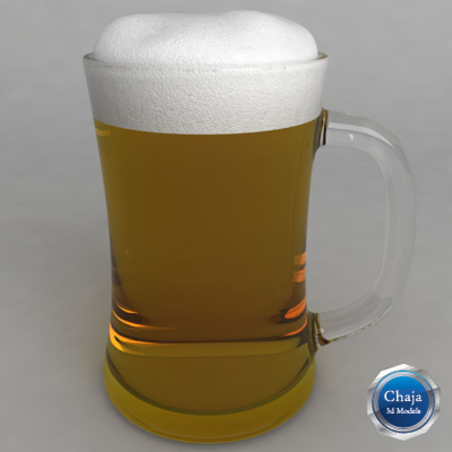 Beer Glass_09 royalty-free 3d model - Preview no. 1