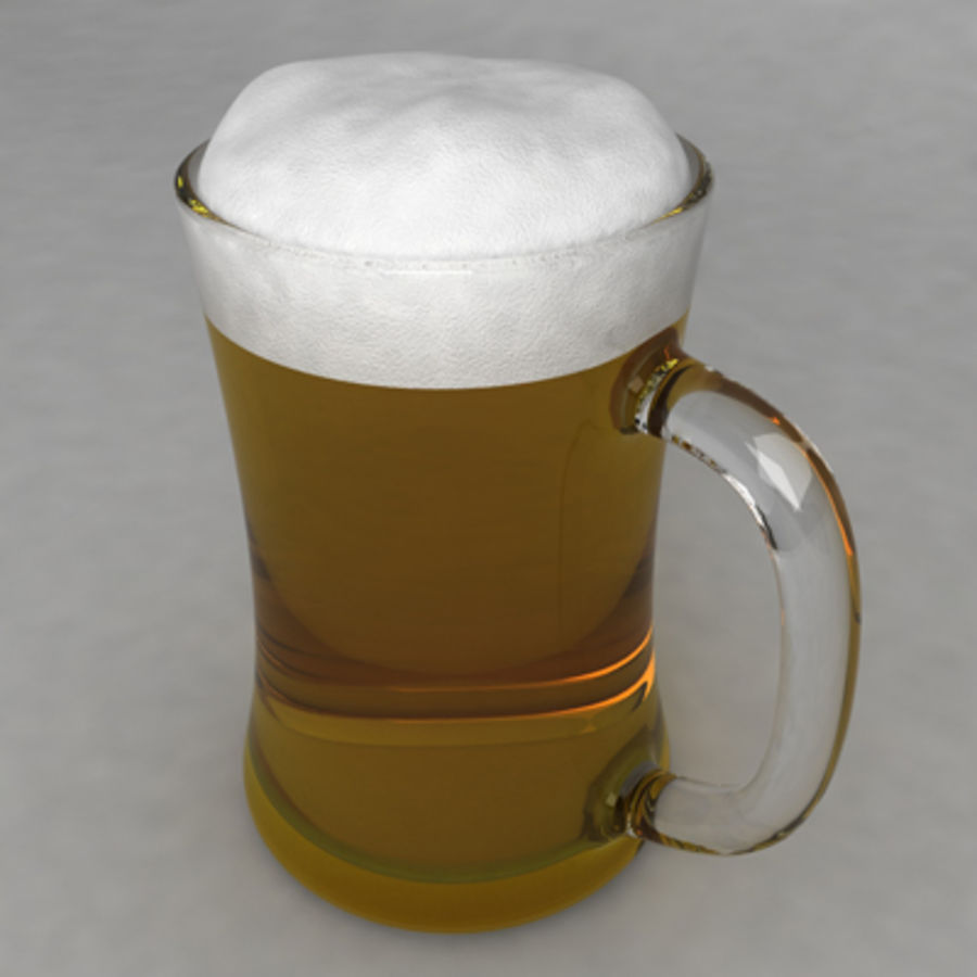 Beer Glass_09 royalty-free 3d model - Preview no. 2
