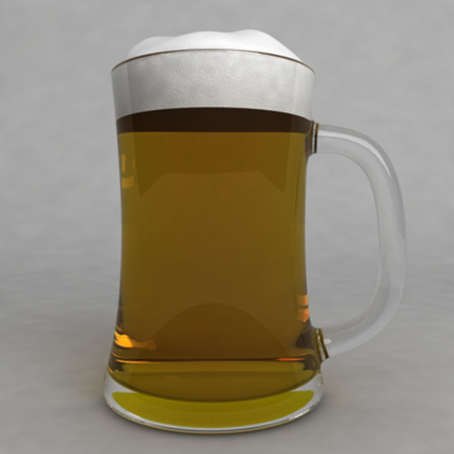 Beer Glass_09 royalty-free 3d model - Preview no. 3