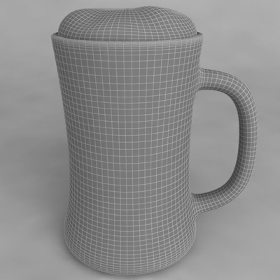 Beer Glass_09 royalty-free 3d model - Preview no. 4