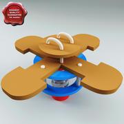 집단 시소 꽃 3d model