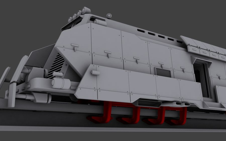 Maglev Armored Train V1 royalty-free 3d model - Preview no. 5