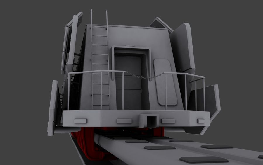 Maglev Armored Train V1 royalty-free 3d model - Preview no. 8