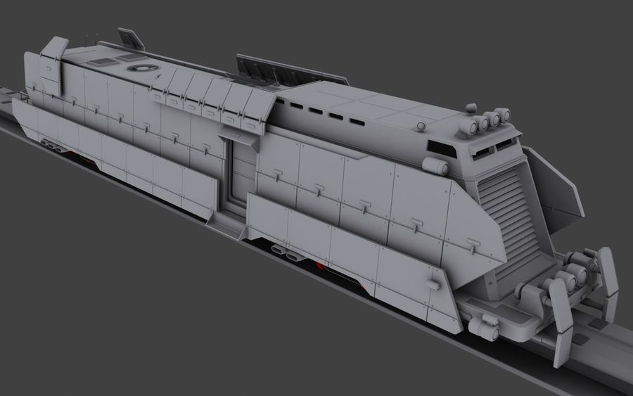 Maglev Armored Train V1 royalty-free 3d model - Preview no. 2
