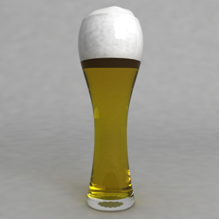 Beer Glass_06 royalty-free 3d model - Preview no. 3