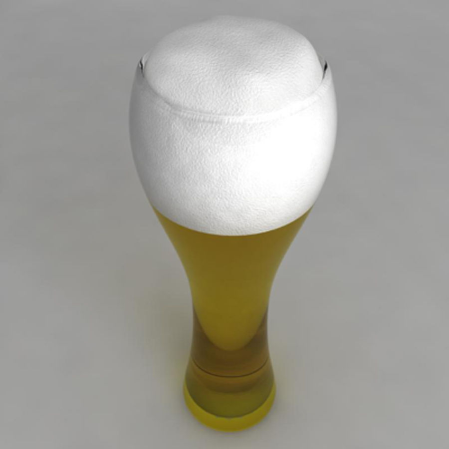 Beer Glass_06 royalty-free 3d model - Preview no. 2