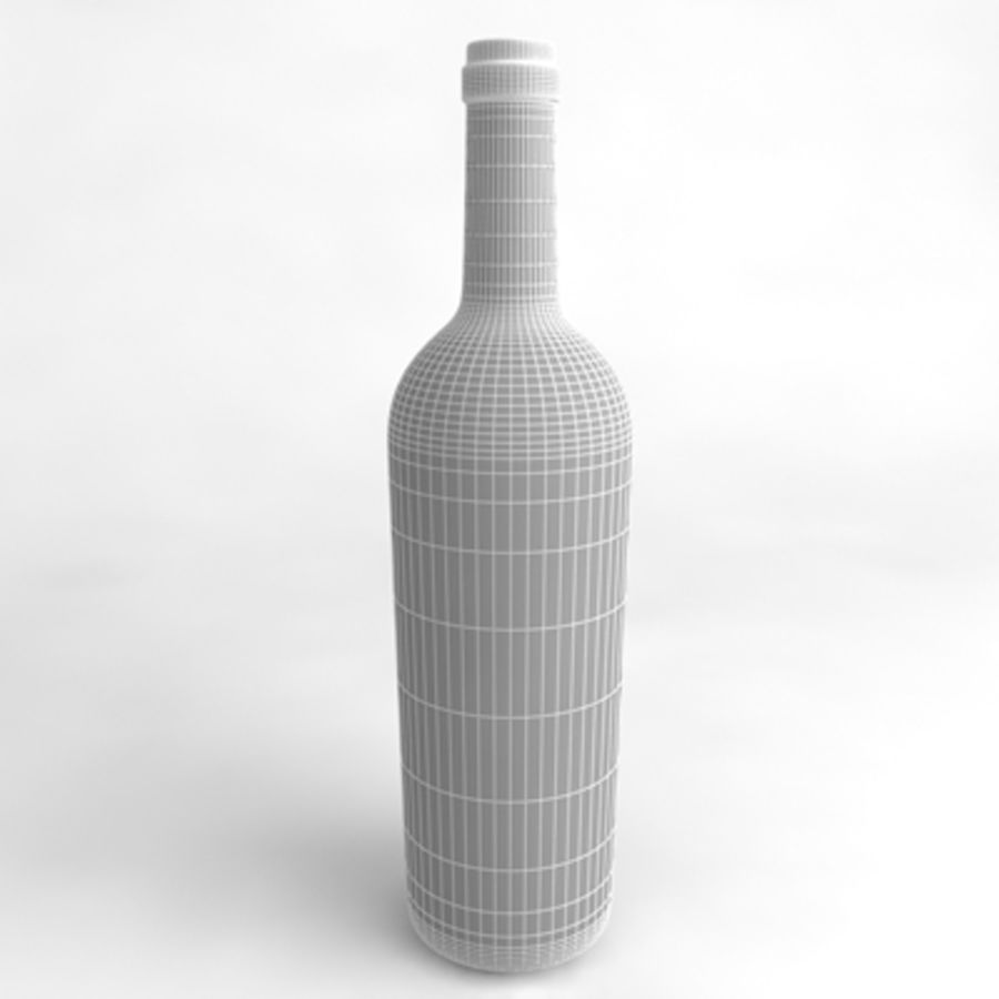 Wine Bottle_06 royalty-free 3d model - Preview no. 4