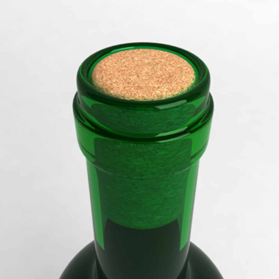 Wine Bottle_06 royalty-free 3d model - Preview no. 3