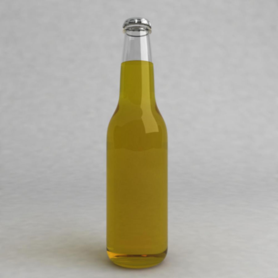 Bierflasche 2 royalty-free 3d model - Preview no. 3