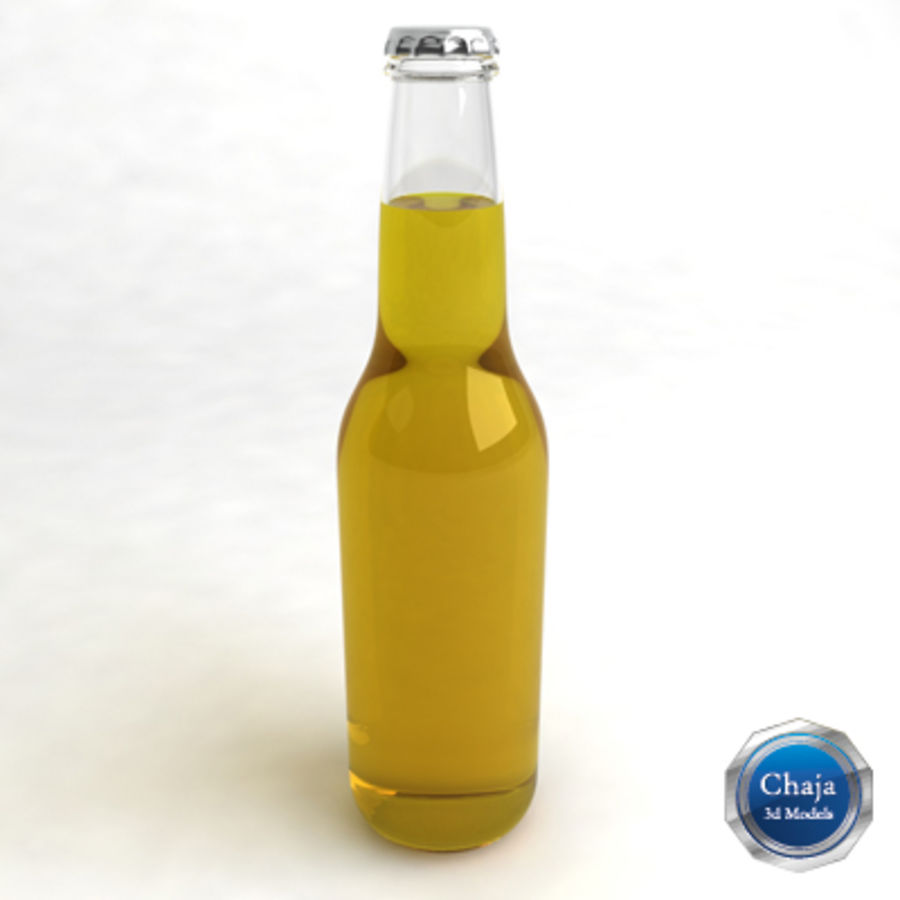 Bierflasche 2 royalty-free 3d model - Preview no. 1