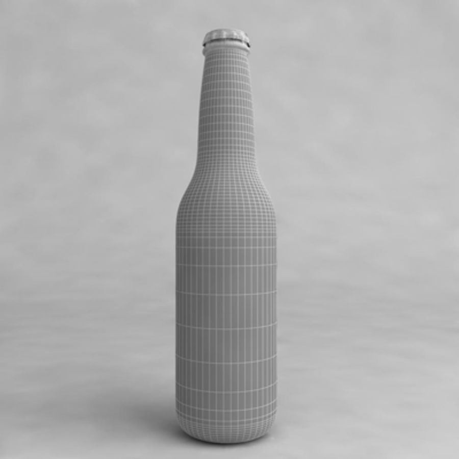 Bierflasche 2 royalty-free 3d model - Preview no. 6