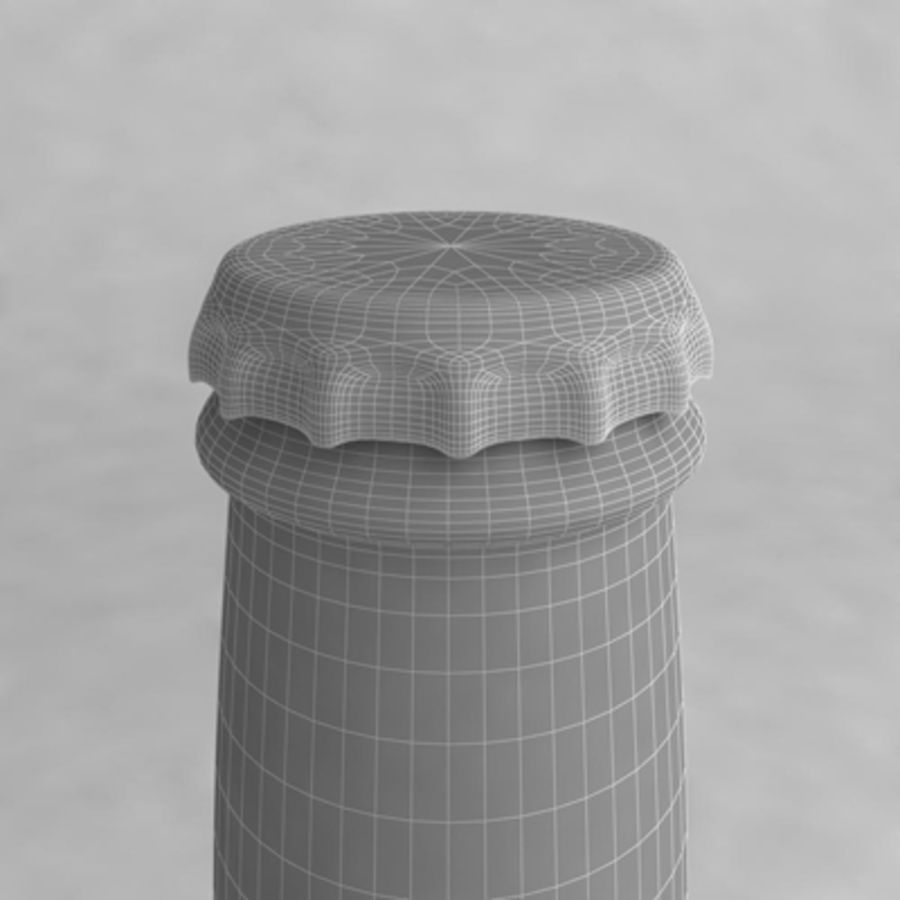 Bierflasche 2 royalty-free 3d model - Preview no. 5