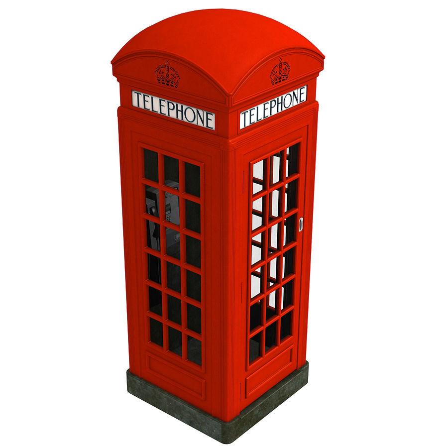 London Phone Kiosk(1) royalty-free 3d model - Preview no. 3