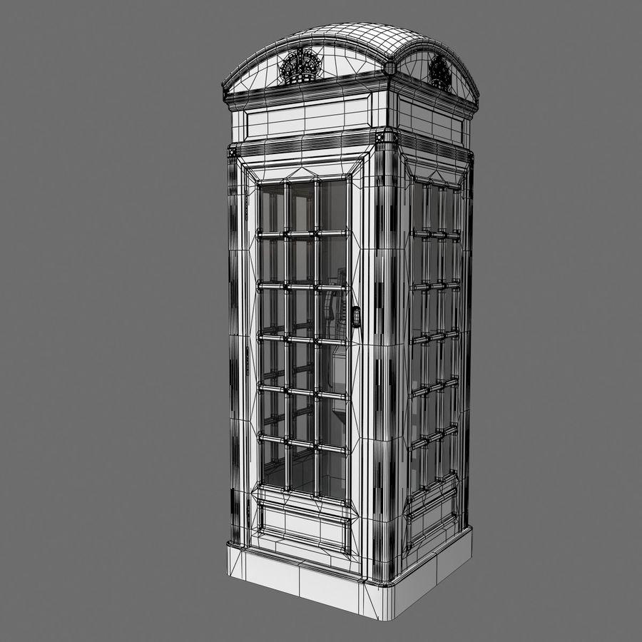 London Phone Kiosk(1) royalty-free 3d model - Preview no. 8