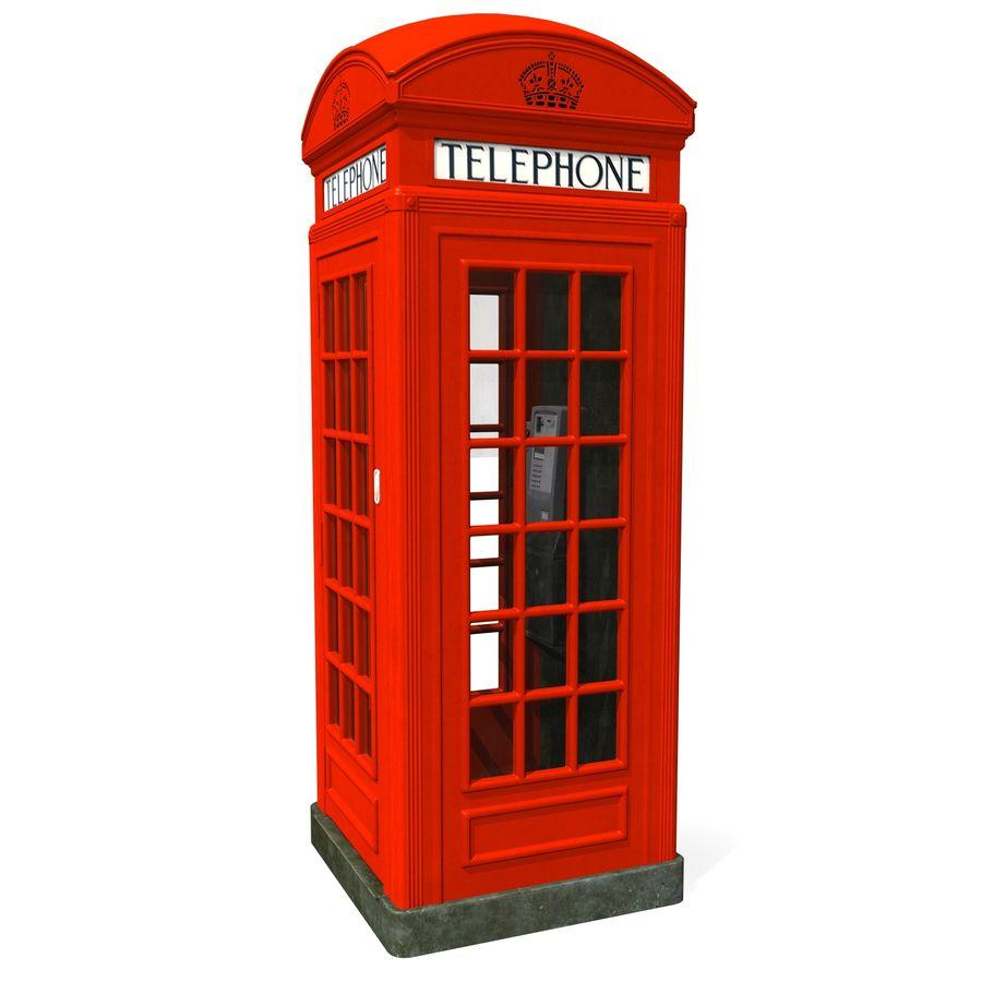 London Phone Kiosk(1) royalty-free 3d model - Preview no. 5