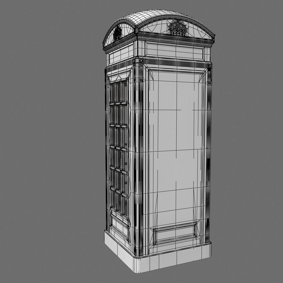 London Phone Kiosk(1) royalty-free 3d model - Preview no. 9