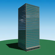 Building 003 - skyscraper 3d model