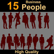 Human silhouettes business 3d model