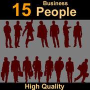 Biznes sylwetek ludzkich 3d model