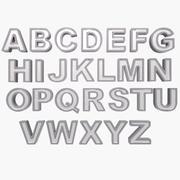 3d Alphabet 3d model