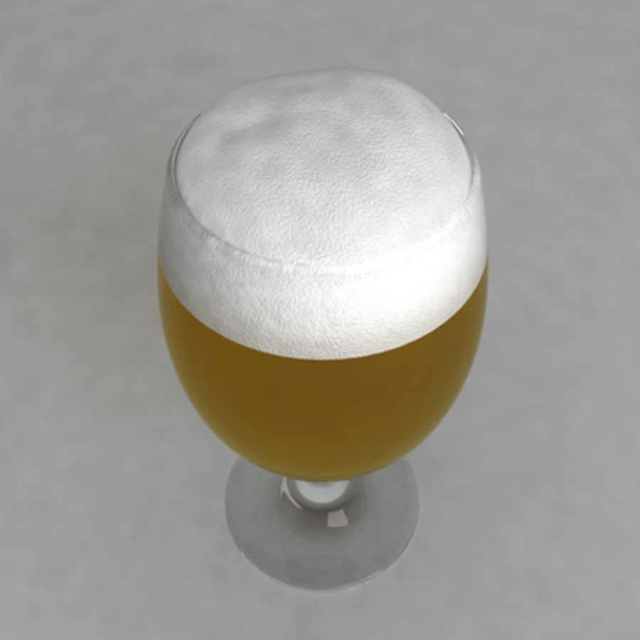 Beer Glass_08 royalty-free 3d model - Preview no. 3