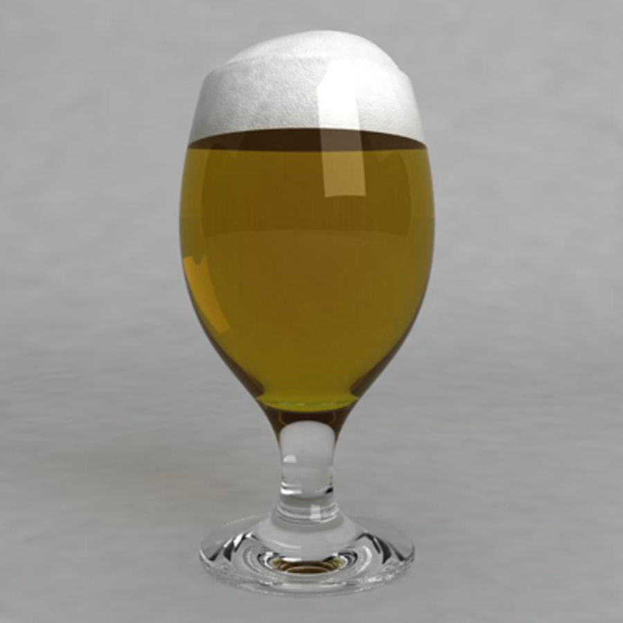 Beer Glass_08 royalty-free 3d model - Preview no. 2