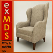 Wingback Chair (vray e mr) 3d model