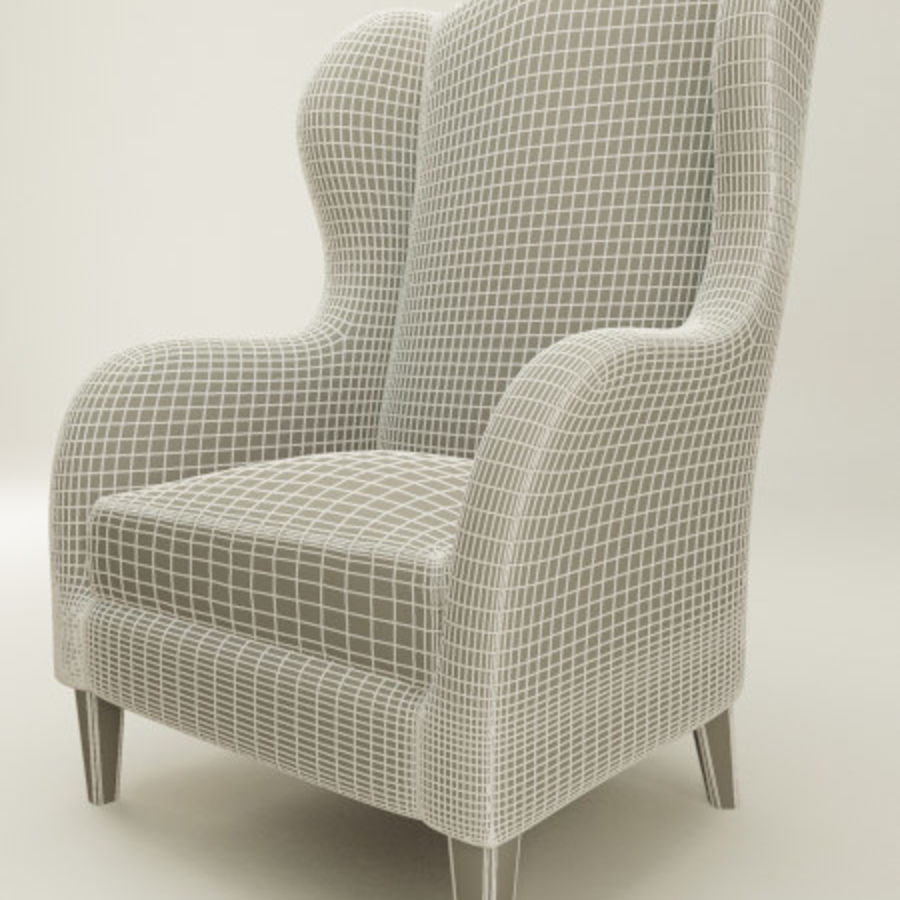 Wingback Sandalye (vray ve mr) royalty-free 3d model - Preview no. 4