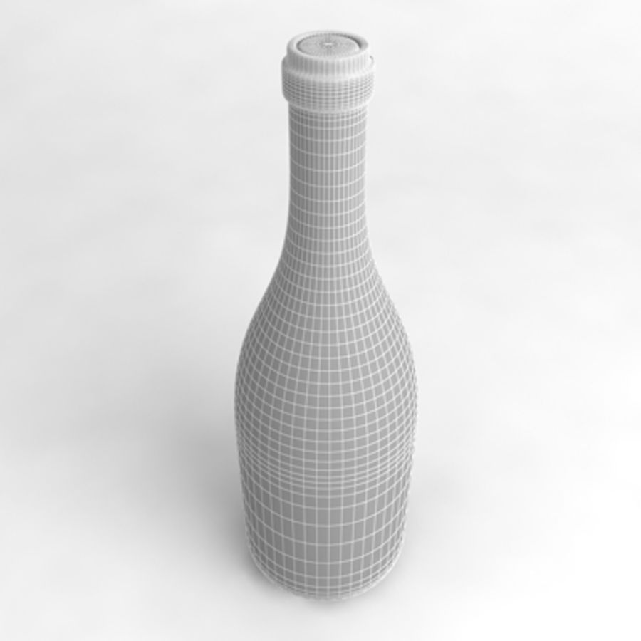 Garrafa de vinho_01 royalty-free 3d model - Preview no. 5