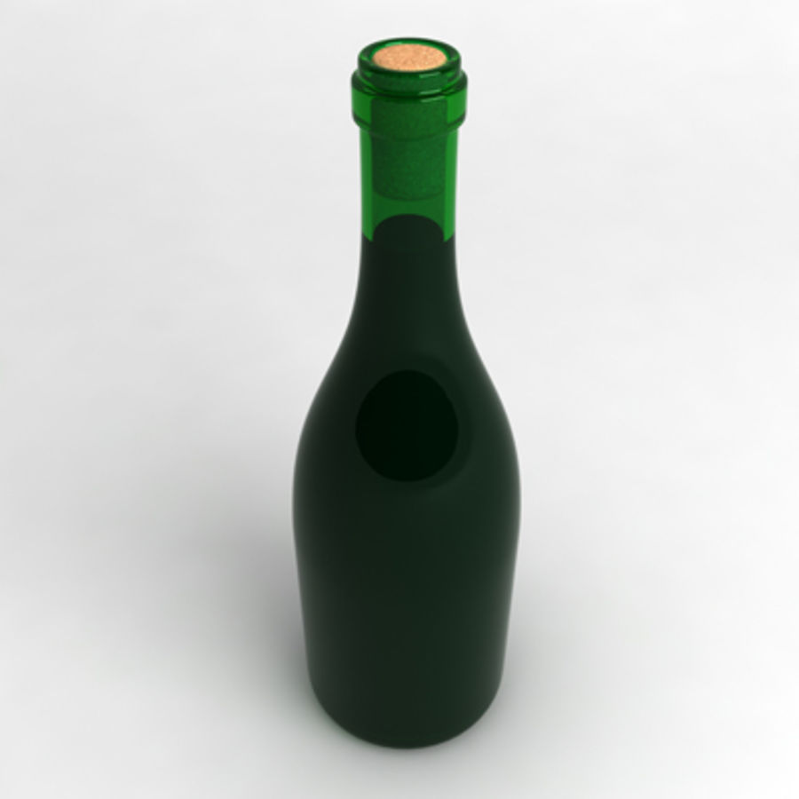 Garrafa de vinho_01 royalty-free 3d model - Preview no. 2
