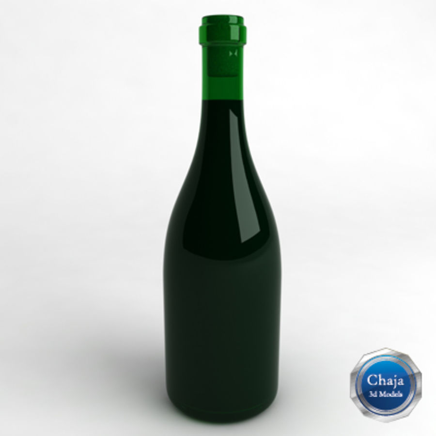 Garrafa de vinho_01 royalty-free 3d model - Preview no. 1