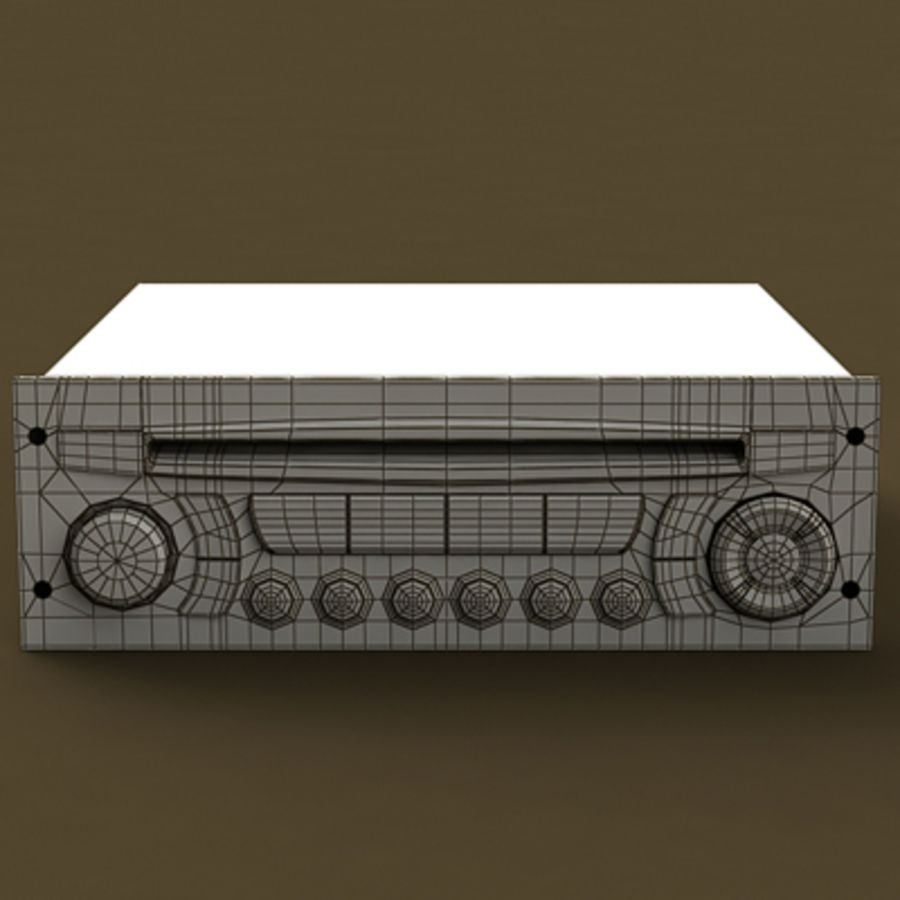 RADIO CAR royalty-free 3d model - Preview no. 5